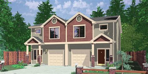 what is a duplex house plan 38019lb duplex with 3 beds in each unit duplex