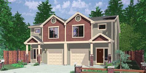 duplex house plans with garage plan 38019lb duplex with 3 beds in each unit duplex house plans duplex house and