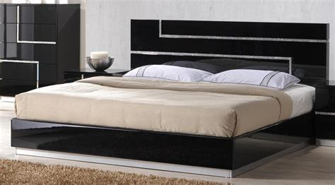 de anjie full size modern black crystal bedroom set