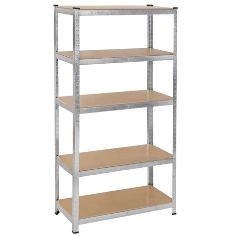 etagere 90 cm 5 tier boltless garage workshop storage racking shelving