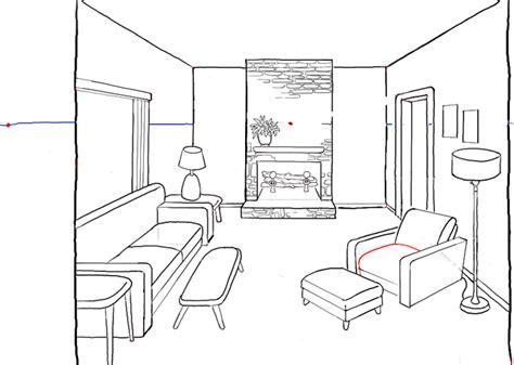 wohnzimmer zeichnung как рисовать комнату в перспективе