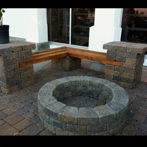 fire pit benches with backs fire pit and bench cheaper than a complete sitting wall