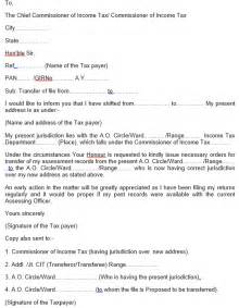 Authorization Letter Format For Income Tax letter for change assessing officer