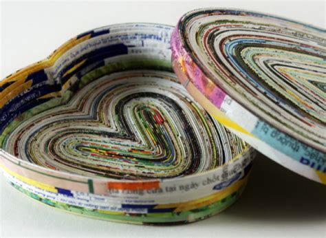 How To Make Paper From Magazines - craft of the day make a dish out of magazine pages