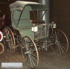 Chariot A 1893 by Antique Car 1893 Duryea Gasoline Buggy Lithograph Vintage