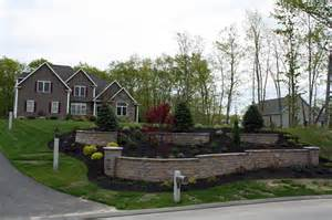 Front Yard Wall Design - new hampshire landscaping front yard stone retaining walls design works