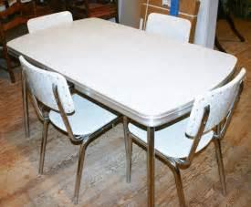 Antique Kitchen Table Sets Vintage 1950s Kitchen Dinette Set Table 4 Chair Silver Gray Formica Chrome Retro Ebay
