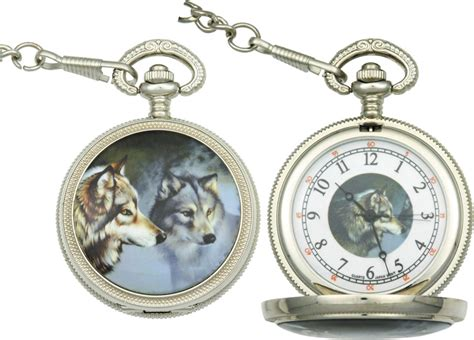 infinity wolf pocket watches iw47