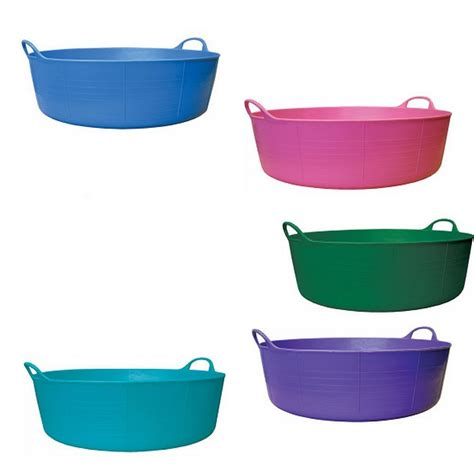 flexible bathtub tubtrugs 15l shallow flexible plastic carry storage tub