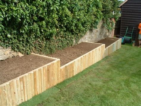 heath raised beds wooden frame faced  wooden