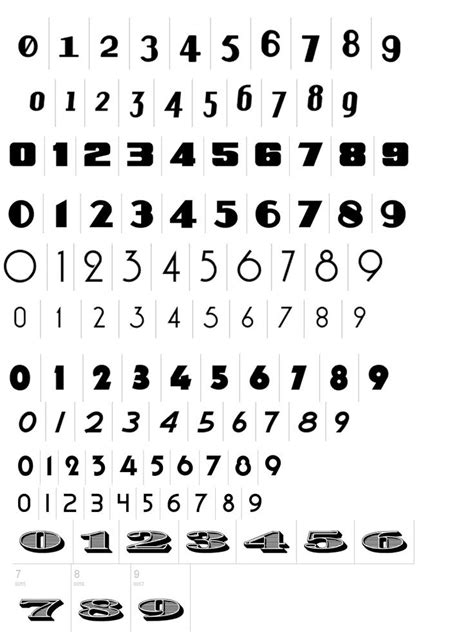 numbers for tattoos vintage numbers type numbers font ink