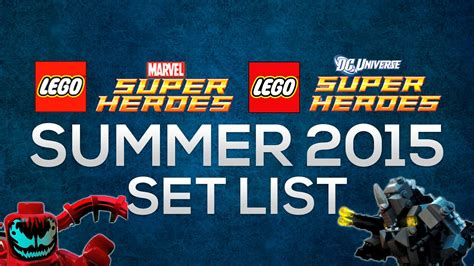 dc super heroes lego sets summer 2015 lego super heroes summer 2015 rumored set list youtube
