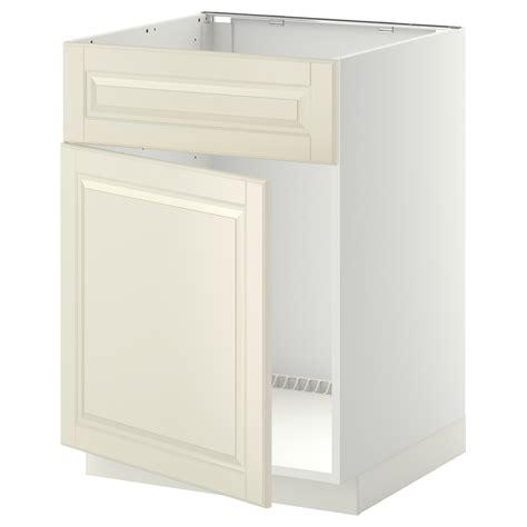 ikea sink cabinet kitchen metod base cabinet f sink w door front white bodbyn white 60x60 cm ikea