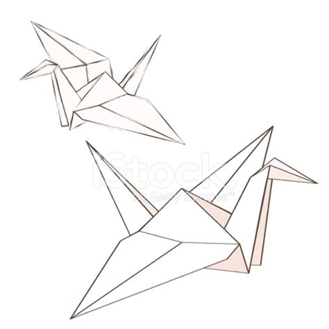 Origami Crane Drawing - pin fotos de origami symbol meanings on