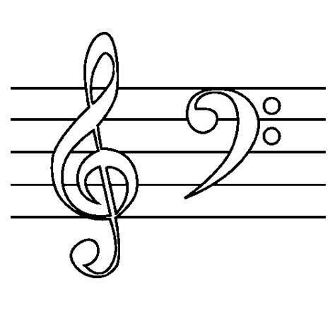 imagenes para dibujar musica dibujo de clave de sol y de fa para colorear dibujos net
