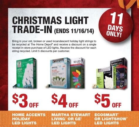 home depot 2014 christmas light trade in event