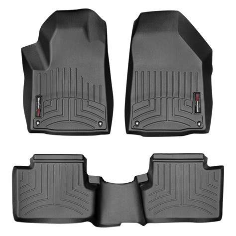 weathertech 174 448331 445662 digitalfit 1st 2nd row black molded floor liners