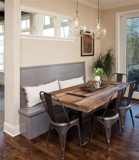 breakfast nook table ideas the tolix tabouret chairs bring a unique and timeless
