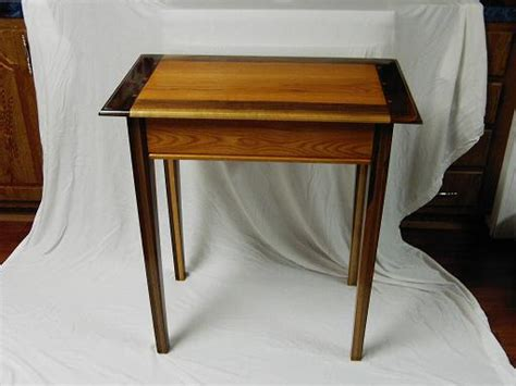 Oak Entry Table Walnut And Oak Entry Table