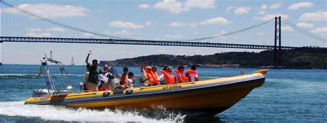 fast wine boat ride fun ride in a speed boat in lisbon