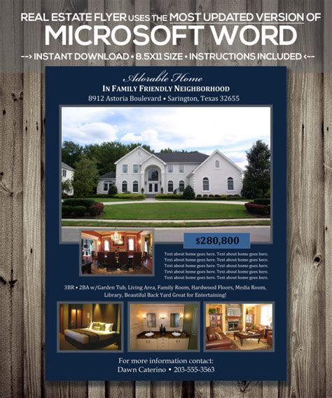 realtor flyer template real estate flyer template microsoft word docx