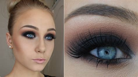 Eyeshadow Smokey bold beautiful black smokey makeup tutorial step by