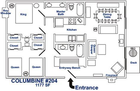 breckenridge lodging ski condo 204 floor plan