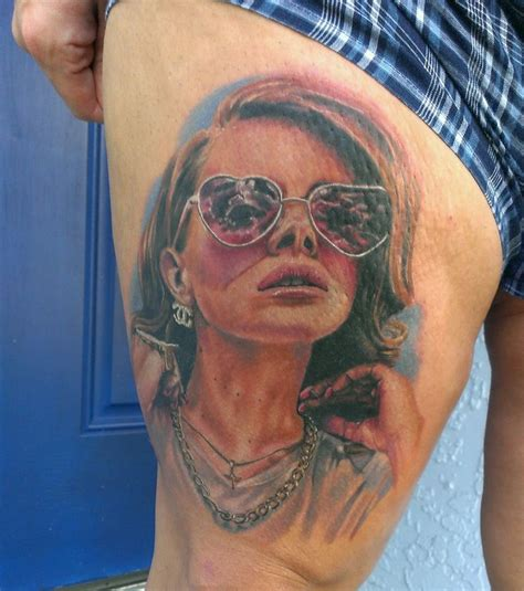 lana del rey tattoo my bad sat for 7hrs for