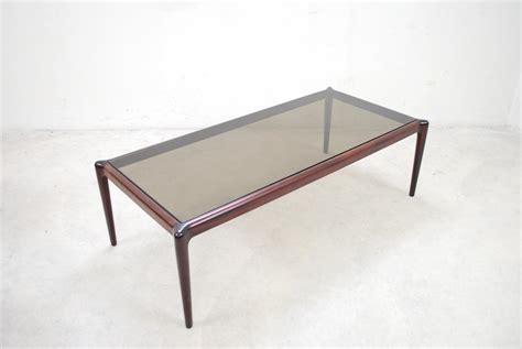 Mahogany And Glass Coffee Table Large Vintage Mahogany Smoked Glass Coffee Table For Sale At Pamono