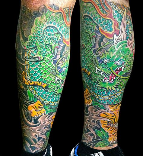 dragon calf tattoo designs 42 best japanese calf images on