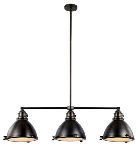 island 3 light pendant weathered bronze transitional