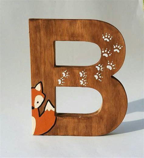 Decorative Wooden Letters Nursery Wooden Letters For Nursery Woodland Nursery Decor Painted Wood Letters Woodland