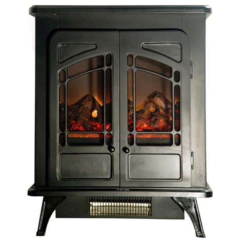 yosemite home decor electric fireplace compact rustic electric fireplace black df efp543