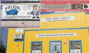 Sofa King Commercial Database Error