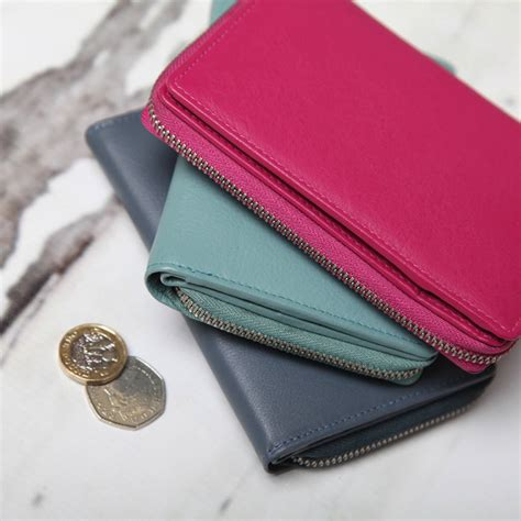 Medium Leather Wallet personalised medium leather wallet by nv
