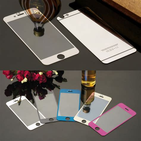 Mirror Iphone 4 4s 5 5s 6 6s 6 6s buy front back colorful tempered glass iphone 4 4s 5 5s 5se 6 6s 6plus screen protector