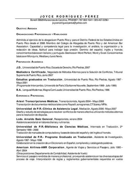 ejemplos de resume en puerto rico ejemplo resume licenciada abogada by anllelic lozada