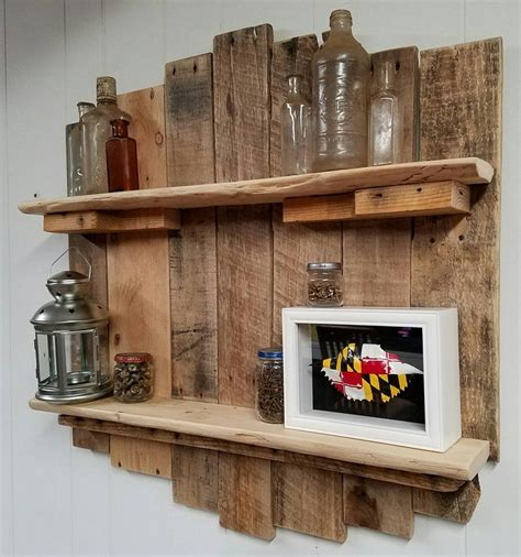 Pallet Shelf Plans by Recycling Pallet Cool Shelf Set In Your House I Love2make