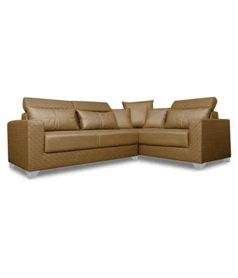 l shaped sofa india adorn india bentley leatherette l shaped sofa available at