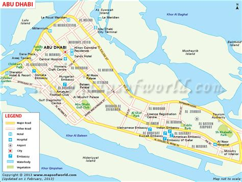 map of dubai and abu dhabi map of abu dhabi city showing roads tourist places church mosque etc gulf city maps