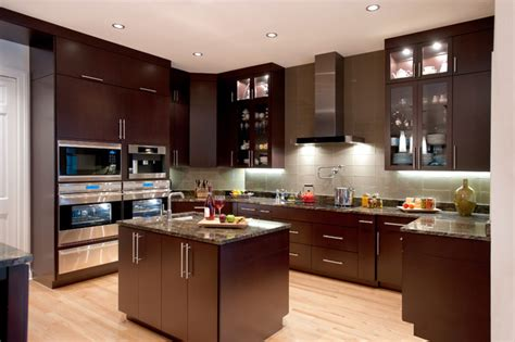 Houzz Modern Kitchen Cabinets with Bars