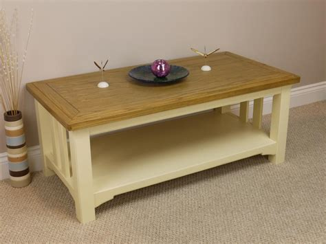how to paint coffee table painted white oak coffee l table with shelf solid