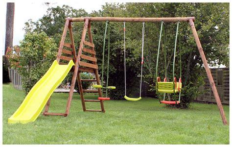 Portique Balancoire Enfant by Portique En Bois Avec Agr 232 S S 233 Curis 233 S Piscine Center Net
