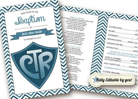 baptism template lds 17 best ideas about baptism program on lds