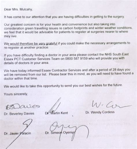 Excuse Letter Due To Bad Weather Elderly Uk Allegedly Forced To Find New Doctor Because Of Carbon Footprint Theblaze
