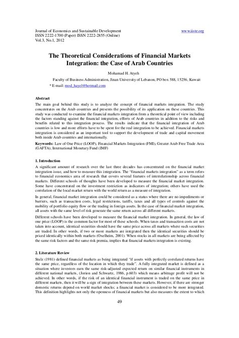 11.the theoretical considerations of financial markets