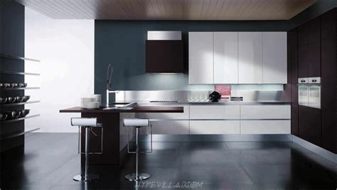 Interior Design Modern Kitchen Gorgeous Design Ideas Of Modern Kitchen With Black Gloss Island And Grey Color Granite