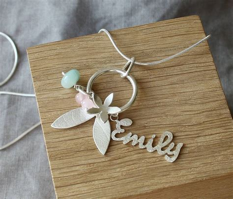 Personalised Handmade Jewellery - handmade silver personalised name necklace by caroline