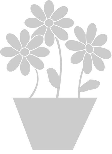 stencil con fiori stencil floreale vaso con fiori