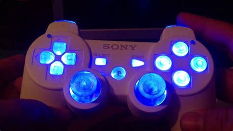 ps3 controller light codes ps3 modded controller with led lights and rumble motor mod
